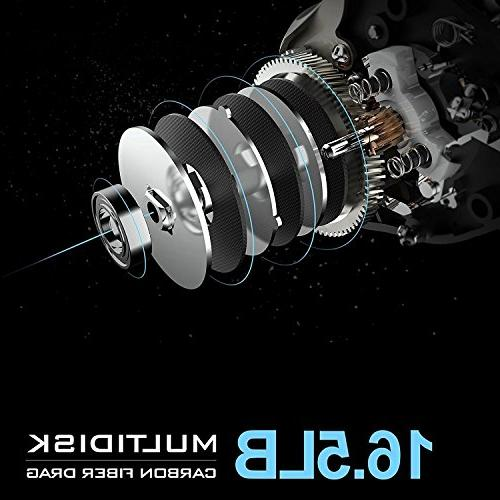 KastKing - Fishing Reel Super 16.5 Lb Carbon Fiber Drag, + BB, Dual Brakes