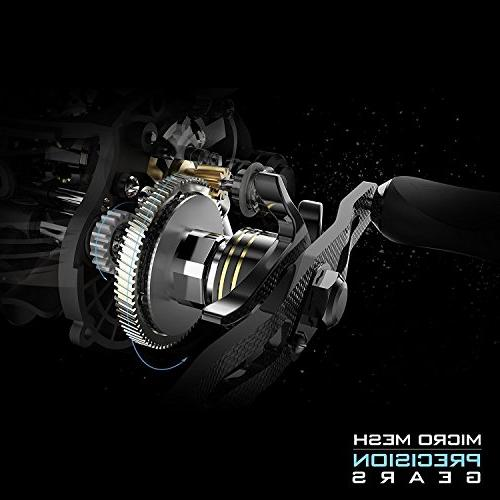 KastKing Stealth - All Carbon Baitcaster Fishing Reel 6oz Super Light Weight - 16.5 Carbon Drag, 11 + BB, Dual