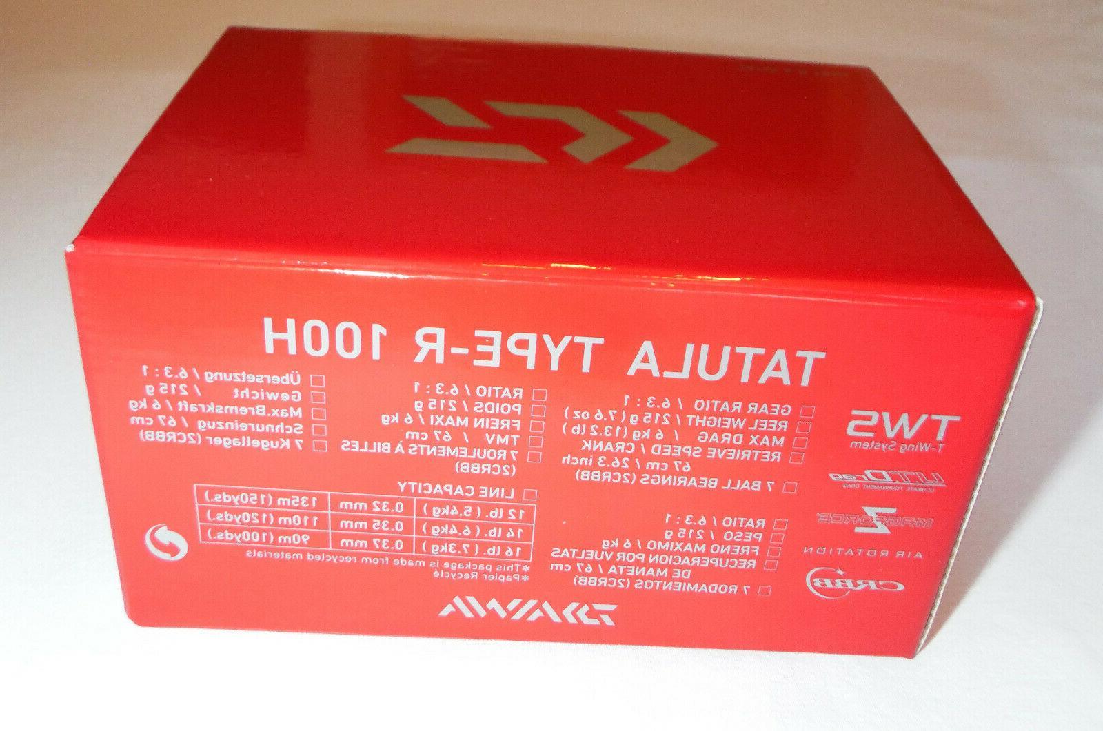 Daiwa Tatula Type-R Red Limited Baitcasting Fishing