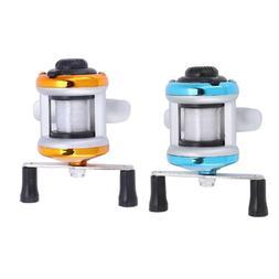 Mini Metal Casting Winter Ice Fishing Reel Wheel Baitcast Ro