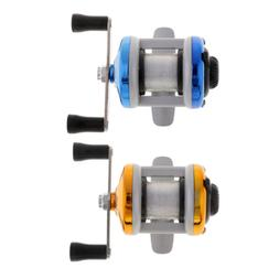 Mini Plastic Baitcasting Spinning Reel Boat Ice Fishing Reel
