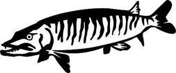 muskie sticker pike fishing lead bait baitcaster
