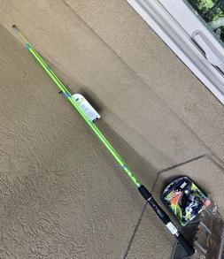 NEW Bright Green ZEBCO SPLASH 20 Spinning Reel w 6 Ft HOT CA