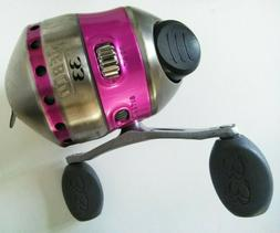 New Pink Zebco 33 Model 33 BB Spin cast Reel Bite Alert spoo