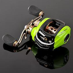 Noeby Low Profile Baitcasting Reel Left Handed with 10+1 Bal