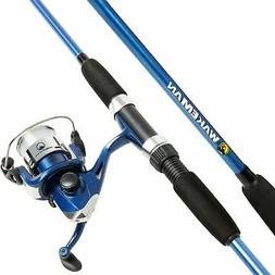 Swarm Series Blue BaitCcast Spinning 2 Pc Rod and Reel Combo